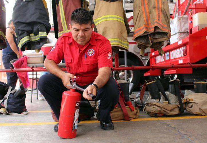 También se capacitará sobre el manejo correcto de extintores. (Yajahira Valtierra/SIPSE)
