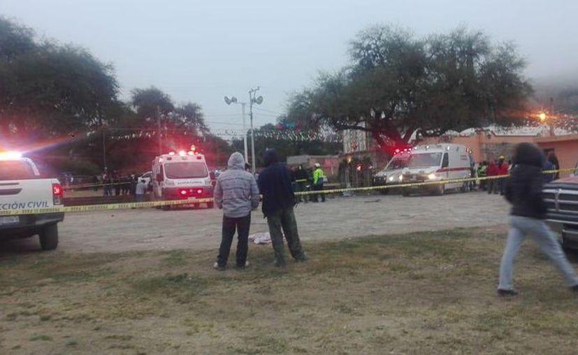 Cinco personas perdieron la vida y nueve resultaron heridas tras una explosión de pirotecnia en Tequisquiapan, Querétaro. (Twitter)