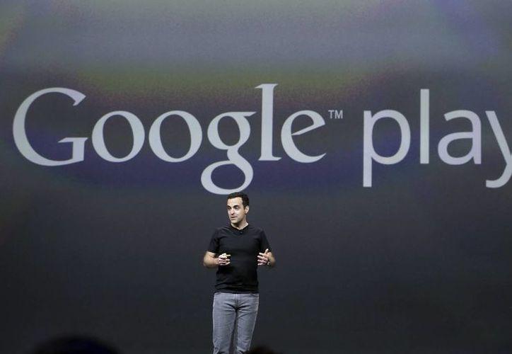 Hugo Barra, vicepresidente, de Android para Google, durante su intervención en la presentación de All Access. (Agencias)