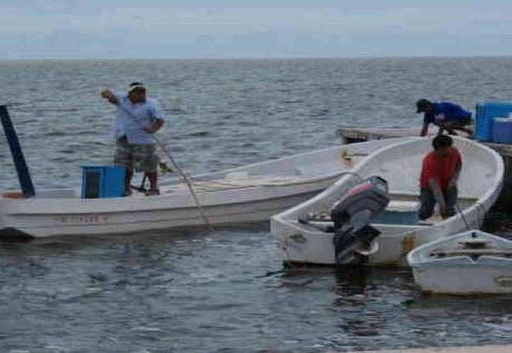 Pescadores de Progreso ponen a resguardo sus embarcaciones. (Óscar Pérez/SIPSE)