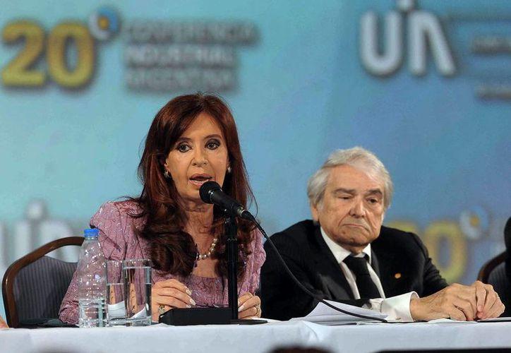 Cristina Fernández admitió que la actividad económica en Argentina está en descenso. (EFE)