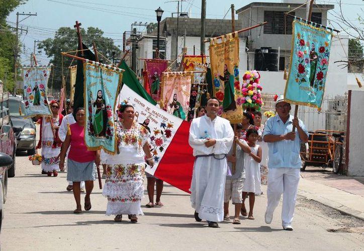 Esperan la participación de mil pobladores durante las celebraciones del santo patrono, las cuales iniciarán el próximo 15 de julio. (Javier Ortiz/SIPSE)