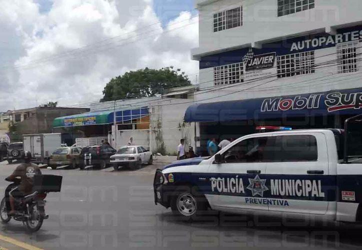 Las autoridades municipales se trasladaron a la zona. (Orville Peralta/ SIPSE)