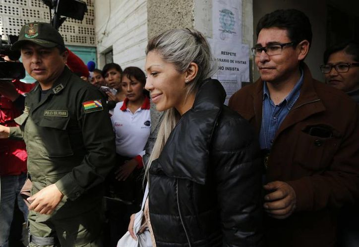 Gabriela Zapata Montaño, expareja del presidente de Bolivia Evo Morales, fue aprehendida este viernes por supuesto enriquecimiento ilícito. (Archivo AP)