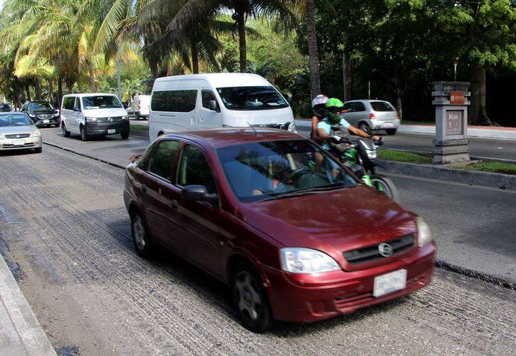 Aseguran que no volverán a afectar a las personas que transitan en el bulevar Kukulcán. (Paola Chiomante/SIPSE)