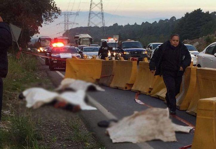 De acuerdo con fuentes oficiales, las víctimas podrían ser presuntos ladrones. (twitter.com/Guiesga)