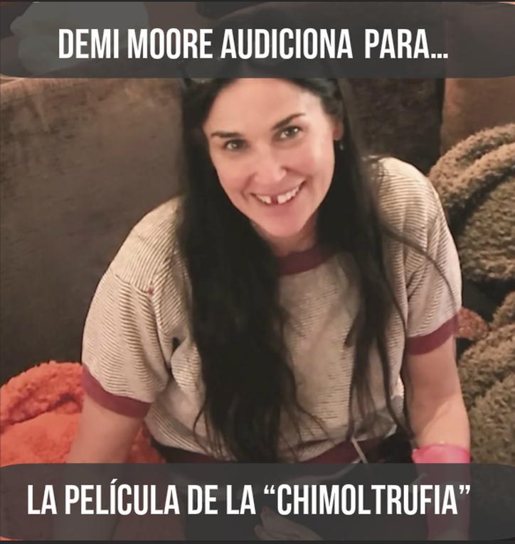 Demi Moore quedó chimuela