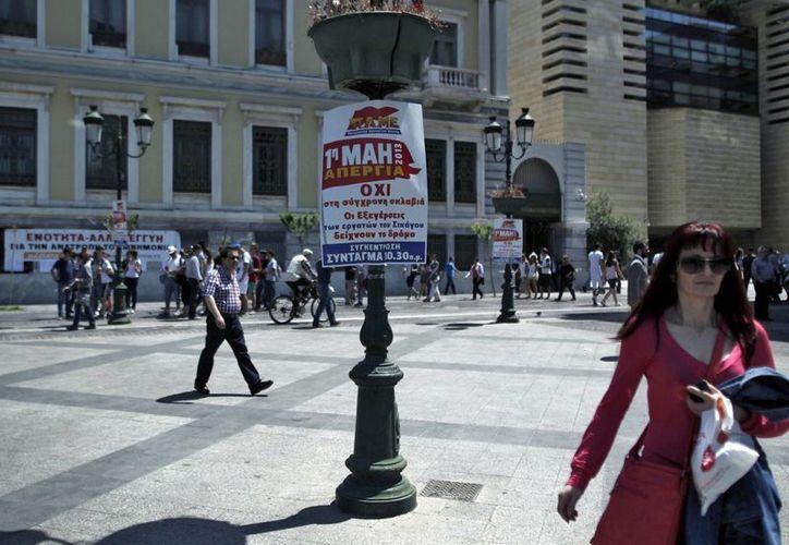 Los servicios de transporte en Atenas fueron suspendidos por la huelga. (EFE)