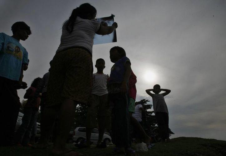 El eclipse pudo verse en su totalidad en buena parte del continente asiático. (AP)