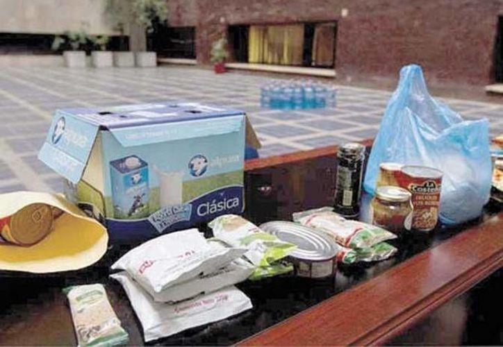 Numerosas organizaciones siguen entregando miles de despensas a damnificados, que en muchos casos ya no tienen casa. (Milenio Novedades/Foto de archivo)