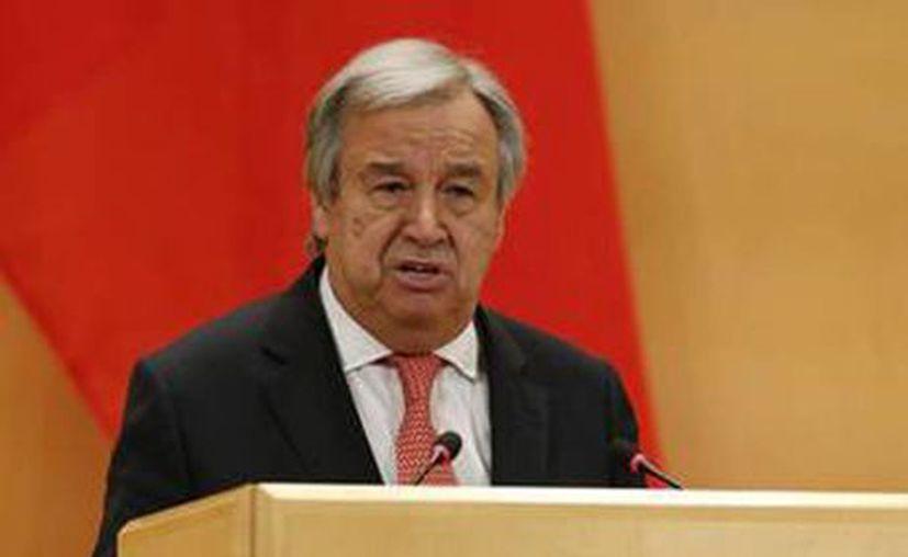 El secretario general de la ONU, Antonio Guterres, en contra de las prohibiciones migratorias de Donald Trump. (ANSA)