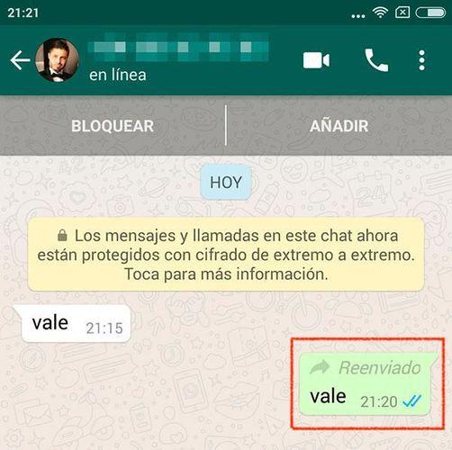 WhatsApp comienza a etiquetar los mensajes reenviados