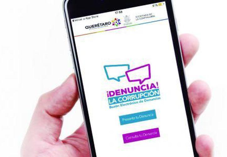 La aplicación para dispositivos móviles facilita a los ciudadanos denunciar cualquier inconformidad contra servidores públicos. (El Financiero)