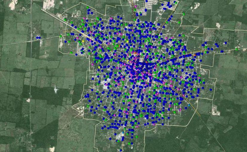 El mapa virtual de negocios del INEGI facilitará la toma de decisiones para los emprendedores al momento de colocar su empresa. (Captura de pantalla deinegi.org.mx)