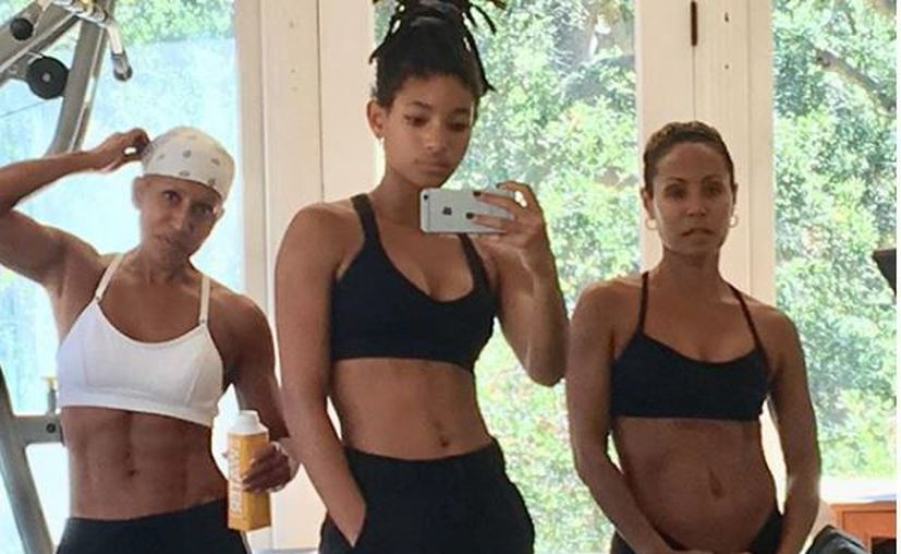 Adrienne Banfield-Jones, Willow Smith y Jada Pinkett Smith deslumbran en Instagram por sus figuras atléticas. (Instagram)