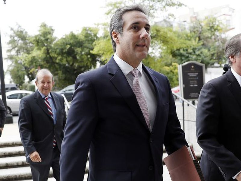 Michael Cohen, President Donald Trump's personal attorney, arrives at federal court for a conference regarding the FBI's seizure of his records, in New York.