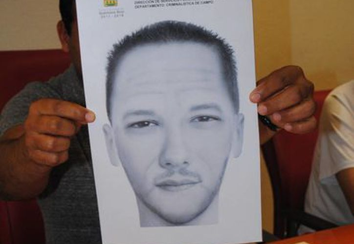 Dieron a conocer el retrato hablado del presunto homicida. (Eric Galindo/SIPSE)