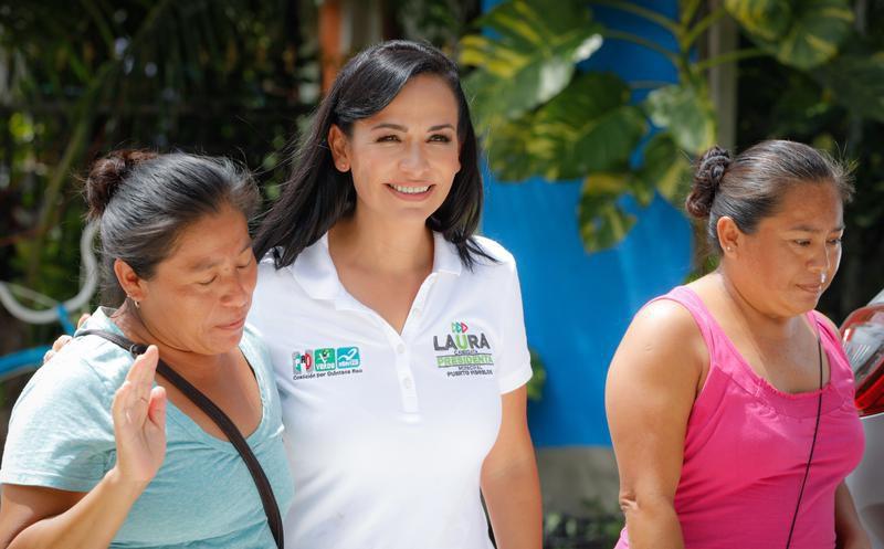 La candidata indicó que esta fue una jornada ejemplar y agradeció el apoyo de los electores. (Redacción/SIPSE)