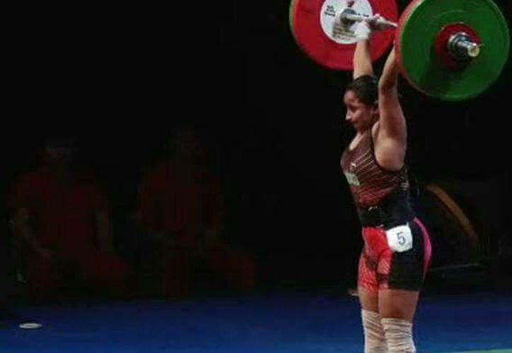 Margeli Castillo se quedó en la octava posición dentro de la categoría de los menores de 53 kilogramos. (Miguel Maldonado/SIPSE)