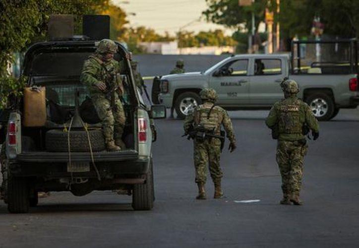 Siete agentes de la Marina Armada de México fueron presentados ante la justicia por su presunta participación en el delito de secuestro. (Cuartoscuro).