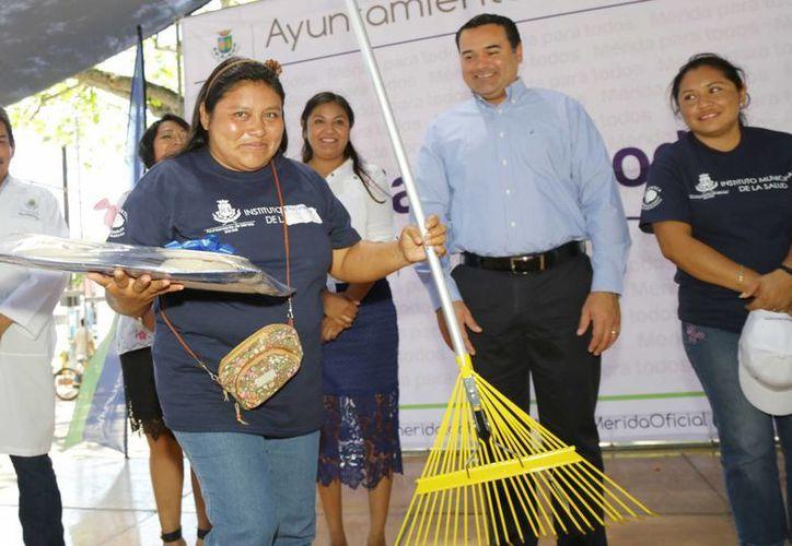 Una ganadora del concurso Vivienda Saludable. (SIPSE)