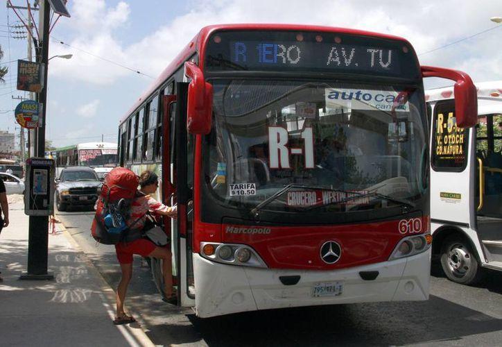 La empresa Autocar sigue dando normal su servicio. (Tomás Álvarez/SIPSE)