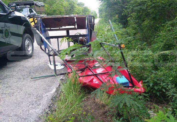 El accidente se presentó en la carretera Motul-Cacalchén. (SIPSE)