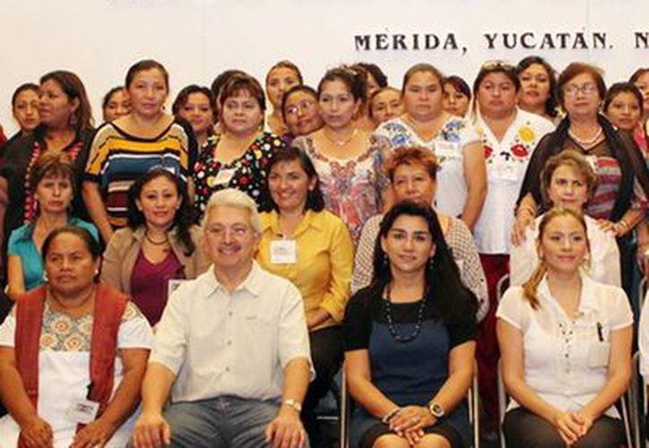 Las presidentas del DIF Yucatán. (Milenio Novedades)