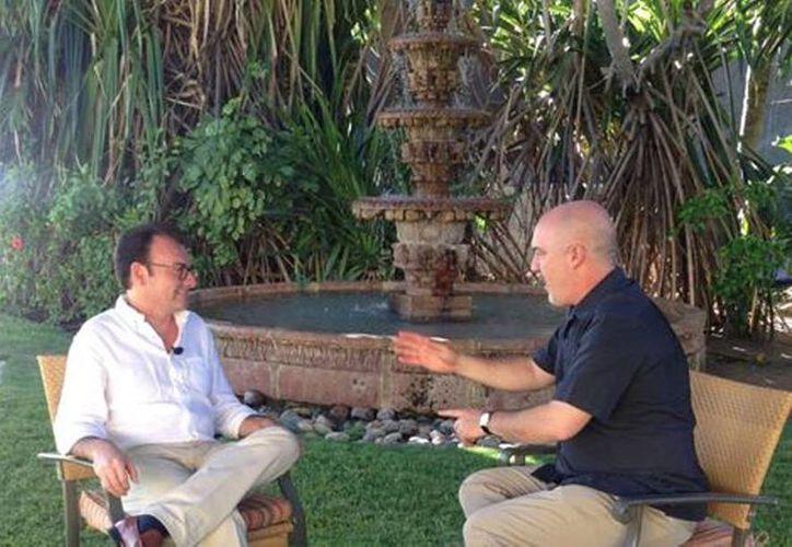 El secretario de Hacienda, Luis Videgaray, habló en entrevista para Carlos Puig sobre las declaraciones de Trump, las reformas en México y la situación de Pemex. (Milenio)