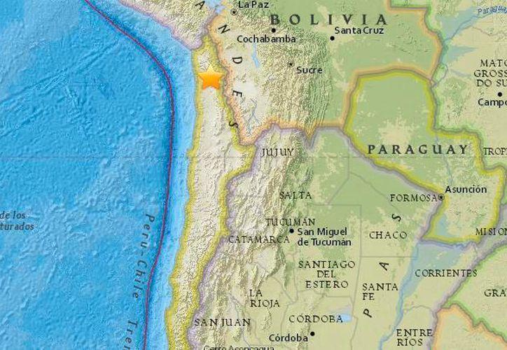 Foco geológico del sismo en Chile. (Internet)
