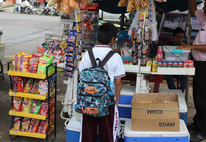 El plan estatal busca combatir los problemas de nutrición entre los alumnos de nivel básico y fomentar el deporte. (Joel Zamora/SIPSE)