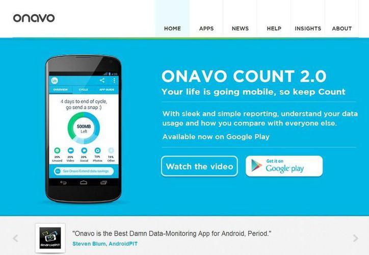 Onavo produce tecnología que comprime contenidos, de tal manera que los usuarios pueden usar más datos. (onavo.com)