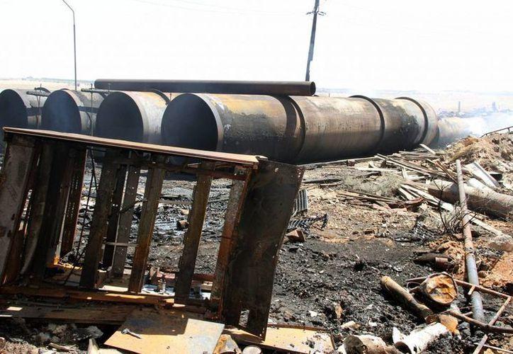 Imagen de los daños en la planta eléctrica de Mhardeh en la provincia de Hama, Siria. (Archivo/EFE)