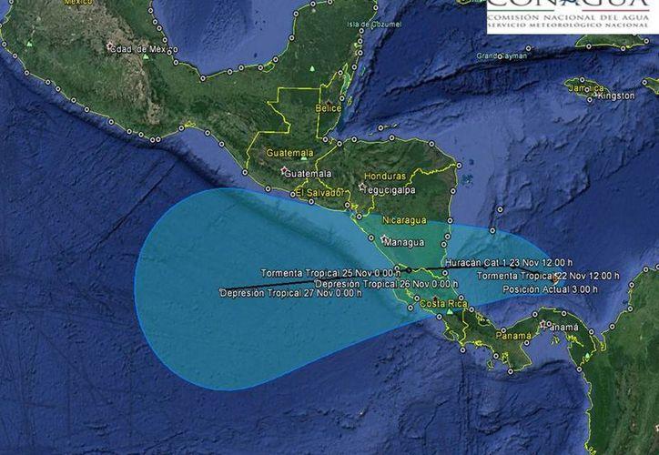 En la Península de Yucatán las condiciones meteorológicas son de cielo medio nublado. (Conagua)