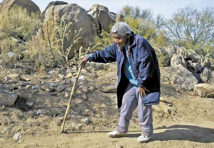 Hipólita Espinoza tiene más de 80 años y es una de las pocas personas que habla y entiende dicho lenguaje. (Milenio)