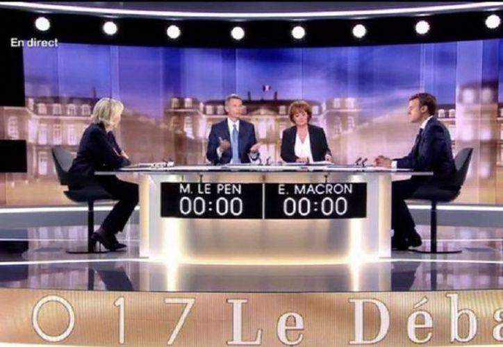 Ayer se realizó el debate entre los candidatos a la presidencia de Francia, Emmanuel  Macron y Marine Le Pen. (cronista.com)