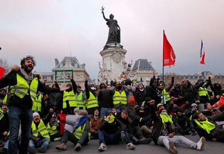 Protestas de chalecos amarillos (Foto: Twitter)