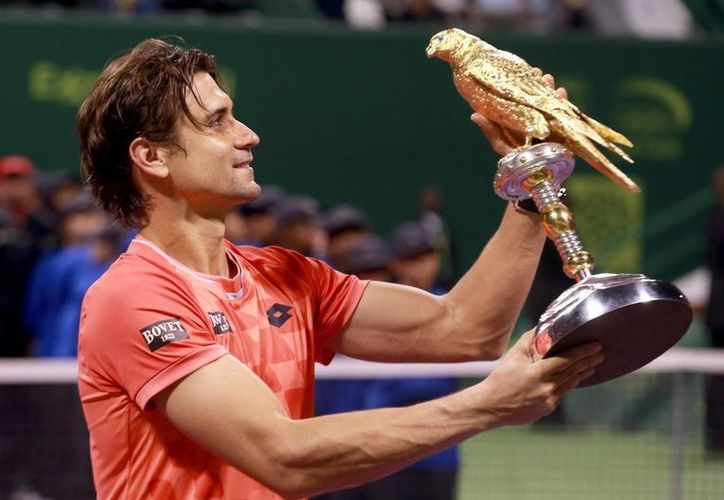 David Ferrer ganó la final de Doha sin mayor problema ya que los dos mejores tenistas del mundo, Rafael Nadal y Novak Djokovic quedaron eliminados demasiado pronto. (EFE)