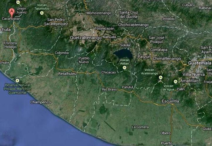 Las indígenas que empiezan a comercializar su shampoo a base de café trabajan en el municipio fronterizo de Cacahoatán, en Chiapas. (Google Maps)