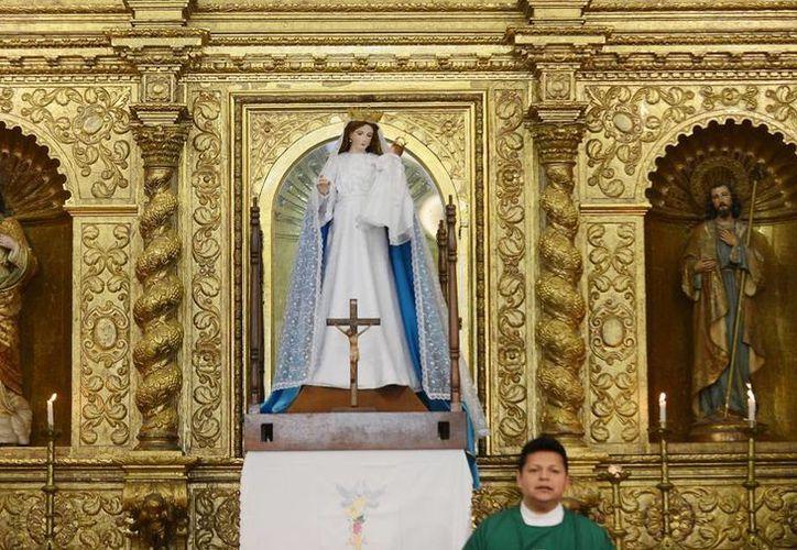 Las festividades de la Virgen de la Candelaria iniciaron ayer y finalizarán el miércoles 4 de febrero. Imagen de la misa del domingo. (Milenio Novedades)