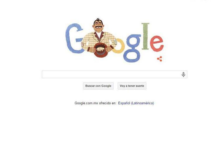 Este 6 de enero Capulina estaría cumpliendo 89 años, y para recordarlo, Google creó doodle con la clásica sonrisa del actor y músico. (google.com.mx)