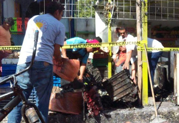 Los hechos ocurrieron en una verduleria del centro de Playa del Carmen. (Daniel Pacheco/ SIPSE)