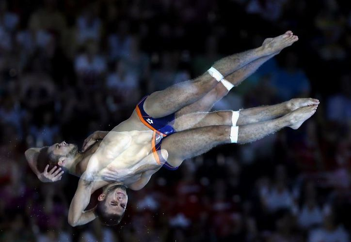 Iván García dominó en la plataforma de diez metros. (Foto: Notimex)