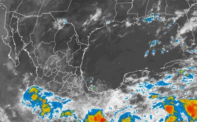 Pronostico de chubascos a tormentas fuertes en la Península de Yucatán