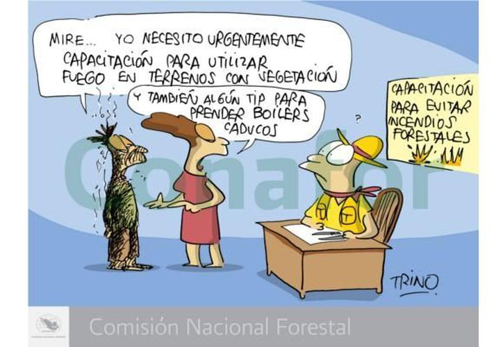 """El autor del cómic """"Crónicas contra incendios"""" es """"Trino"""", ganador del premio Nacional de Periodismo en dos ocasiones. (mexicoforestal.gob.mx)"""