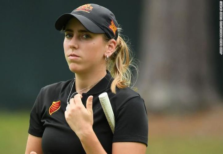 La tenista, campeona europea, Celia Barquín Arozamena fue hallada muerta en un campo de golf de Iowa este lunes. (CNN)