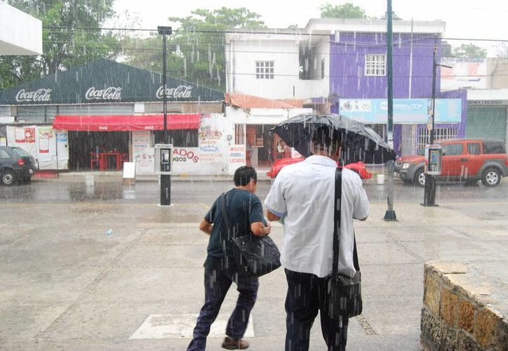 Esperan que las lluvias no sean de gran afectación. (Tomás Álvarez/SIPSE)