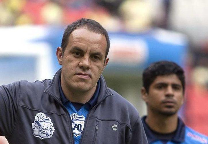 El jugador, Cuauhtémoc Blanco, dejará al Puebla y al futbol en abril. (Notimex)