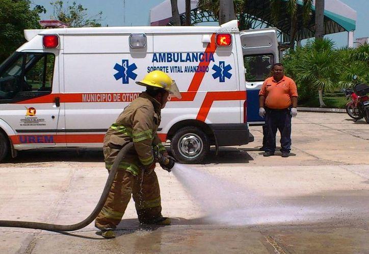 Protección Civil realiza simulacros de prevención. (Redacción/SIPSE)