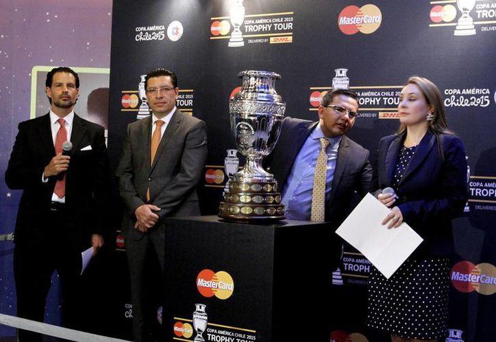 La Copa América, que se disputará en Chile a partir de junio, está en México. (Notimex)